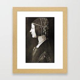 Bianca Sforza by Leonardo da Vinci Framed Art Print