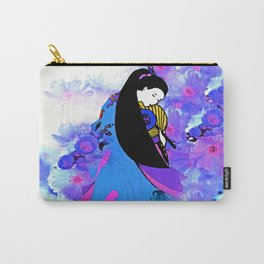 Asian Princess and Cherry Blossom Tree Carry-All Pouch