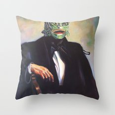 Portrait of Monsieur Gills Throw Pillow