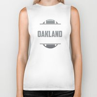 oakland Biker Tanks featuring Its An Oakland Thing by Jacob Tyler FX