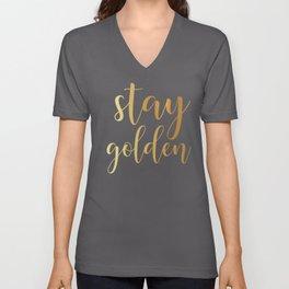 Stay Golden Unisex V-Neck
