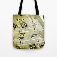 escher Tote Bags featuring Escher Intersection by Vin Zzep