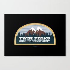 Twin Peaks Sheriff Department (Redux) Canvas Print