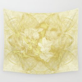 Secret garden in gold Wall Tapestry