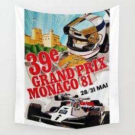 Gran Prix de Monaco, 1981, original vintage poster Wall Tapestry
