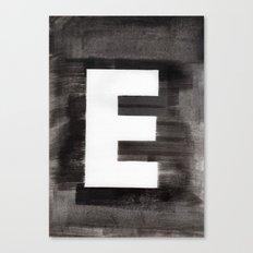 - E - Canvas Print