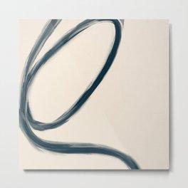Blue Line #1 Art Print Metal Print