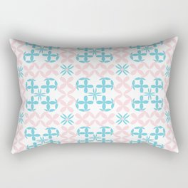 Chain Flowers Seamless Pattern Rectangular Pillow