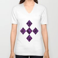 ikat V-neck T-shirts featuring Ikat by Charlene McCoy