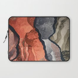 Cool Gray, Tan and Red Patterns Laptop Sleeve
