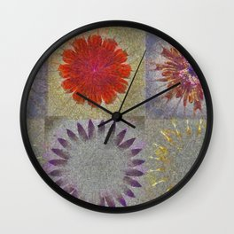Uncaptivate Stripped Flower  ID:16165-034048-23510 Wall Clock