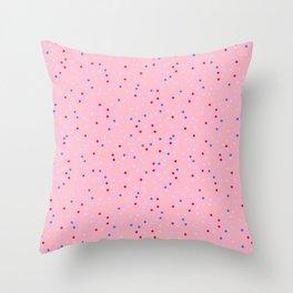 Pink Doughnut Rainbow Sprinkles Pattern Throw Pillow
