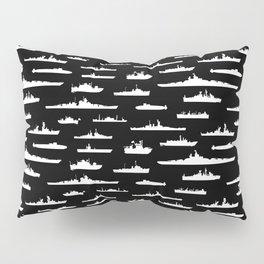 Battleship // Black Pillow Sham