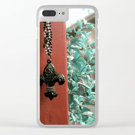 The Fleur- de- Lis Clear iPhone Case