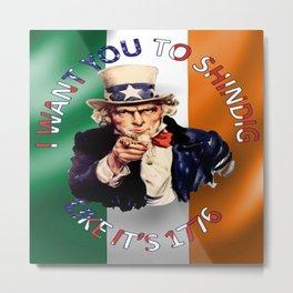 Irish American Uncle Sam Celebration Shindig Metal Print