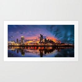 Nashville blue hour Art Print