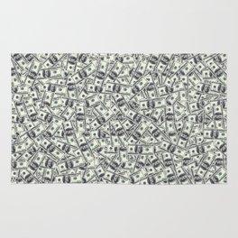 Giant money background 100 dollar bills / 3D render of thousands of 100 dollar bills Rug