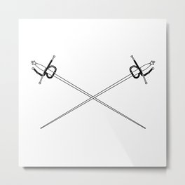 Rapier Foils Outline Metal Print