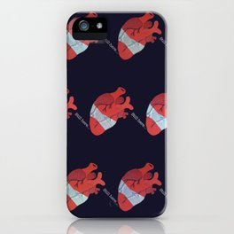 Still here on blue iPhone Case