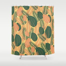 TROPICAL LEAVES 10 Shower Curtain