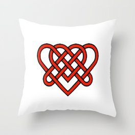 Celtic He Loves Me He Loves Me Knot Throw Pillow