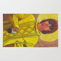 liam payne Area & Throw Rugs featuring Knebworth Liam by Anna Gogoleva