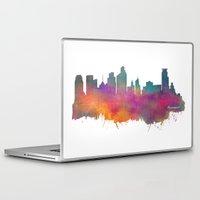 minneapolis Laptop & iPad Skins featuring Minneapolis Skyline  by jbjart