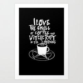 Dark Coffee Lover Art Print
