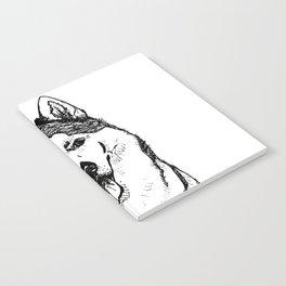 Siberian Husky Portrait Notebook