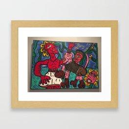 combas inspiration Framed Art Print