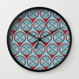 Tribal Markers Wall Clock