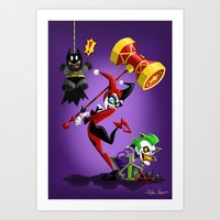 harley quinn Art Prints featuring Harley Quinn by The Art of Eileen Marie