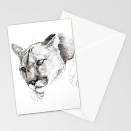 Sketch Of A Captived Mountain Lion Stationery Cards