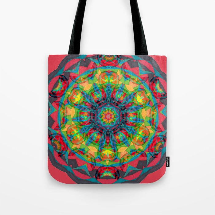 Fruit and Charcoal Bliss Circle Tote Bag