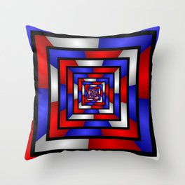 Colorful Tunnel 3 Digital Art Graphic Throw Pillow