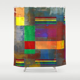 Mid-Century Modern Art - Rainbow Pride 2.0 Shower Curtain