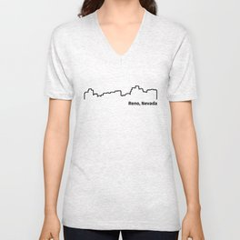 Reno, Nevada Unisex V-Neck
