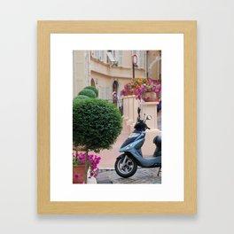 Streets of Monte Carlo, Monaco Framed Art Print