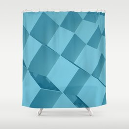 Cyan Mode 1/4. Fashion Textures Shower Curtain