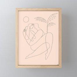 Licorice lips, honeypot mouth Framed Mini Art Print