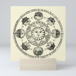 Horoscope Astral Wheel Mini Art Print