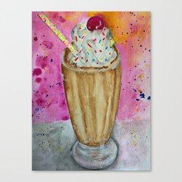 chocolate milkshake food with sprinkles Canvas Print