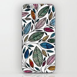 Watercolor Leaf Illustration BP0732 iPhone Skin