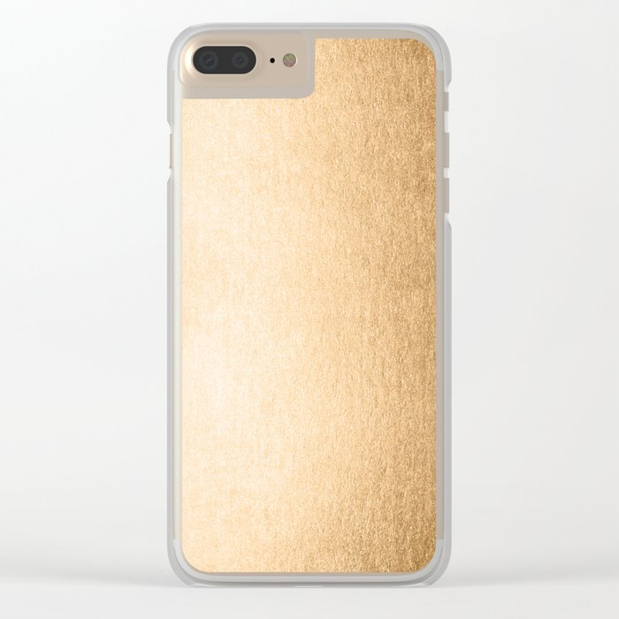 Simply Orange Sherbet Shimmer Clear iPhone Case
