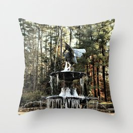 Winter's Lace Throw Pillow