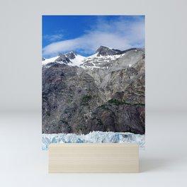 Blue Skies Over Alaskan Mountains and Glaciers Mini Art Print