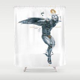 Glitter Hover Shower Curtain