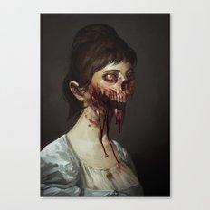 Old Zombie Portrait Canvas Print