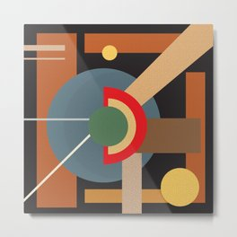 Abstract geometric composition study- clocks Metal Print
