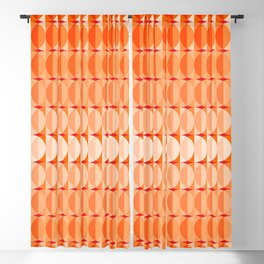 Leaves at sunset - a pattern in orange and red Blackout Curtain
